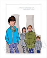 Arctic Monkeys caricature, Heroes of Brit Rock (Rock/Pop)
