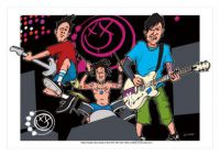 Blink 182 Caricature, Heroes Of Rock (Rock Pop)