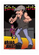 Brian Johnson - AC/DC caricature, Heroes of Rock (Rock/Pop)