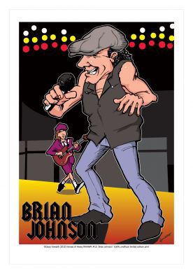 Brian Johnson - Ac Dc Caricature, Heroes Of Rock (Rock Pop)