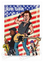 Bruce Springsteen Caricature, Heroes Of Rock (Rock Pop)