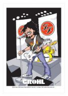 Dave Grohl - Foo Fighters caricature, Heroes of Rock (Rock/Pop)