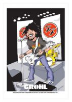 Dave Grohl - Foo Fighters Caricature, Heroes Of Rock (Rock Pop)