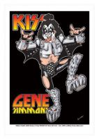 Gene Simmons - Kiss Caricature, Heroes Of Rock (Rock Pop)