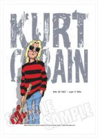 Kurt Cobain - Nirvana Caricature, Heroes Of Rock (Rock Pop)