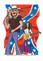 Lynyrd Skynyrd Caricature, Heroes Of Rock (Rock Pop)
