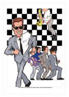 Madness caricature, Heroes of Ska-Mod (Rock/Pop)