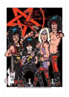 Motley Crue Caricature, Heroes Of Rock (Rock Pop)