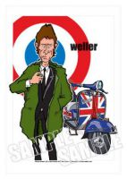 Paul Weller Caricature, Heroes Of Ska-Mod (Rock Pop)