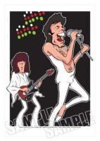 Queen - Freddie Mercury Caricature, Heroes Of Rock (Rock Pop)