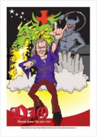 Ronnie James Dio Caricature, Heroes Of Rock (Rock Pop)