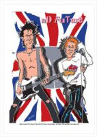Sex Pistols Caricature, Heroes Of Rock (Rock Pop)