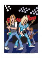 Status Quo Caricature, Heroes Of Rock (Rock Pop)