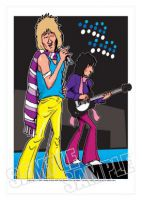 The Faces - Rod Stewart Caricature, Heroes Of Rock (Rock Pop)