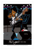 Thin Lizzy - Phil Lynott Caricature, Heroes Of Rock (Rock Pop)