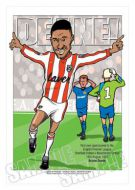 Brian Deane Caricature- Sheffield United Legends of Football