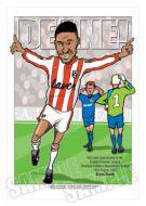 Brian Deane Caricature- Sheffield United Legends Of Football