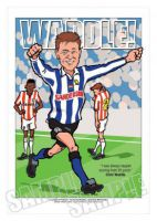 Chris Waddle Caricature- Sheffield Wednesday Legends Of Football