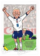 Paul Gascoigne Caricature Legends of Football