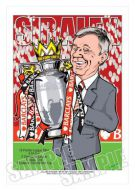 Sir Alex Ferguson - Manchester United caricature