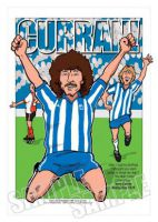 Terry Curran - Sheffield Wednesday Caricature Legends Of Football