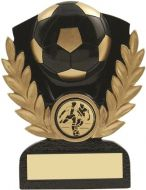 Black Gold Resin Football Trophy - 3.75in