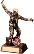 Bronze/Gold Resin Male Street Dance Figure Trophy (1in insert) - 7.25in