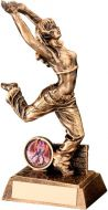 Bronze/Gold Resin Female Street Dance Figure Trophy (1in insert) - 7.5in