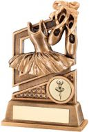 Bronze/Gold Ballet Diamond Series Trophy - 5.5in