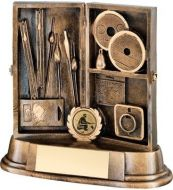 Bronze/Gold Resin Angling Tackle Box Trophy - 5.5in
