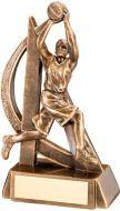 Bronze/Gold Female Basketball Geo Figure Trophy - 7in