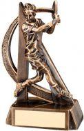 Bronze/Gold Male Tennis Geo Figure Trophy - 6.5in