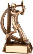 Bronze/Gold Female Tennis Geo Figure Trophy - 6.5in