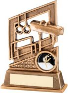 Bronze/Gold Gymnastics Diamond Series Trophy - 5.25in