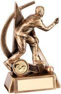 Bronze/Gold Male Lawn Bowls Geo Figure Trophy - 5.75in