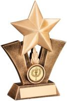 Bronze/Gold Generic Star Resin Trophy - 5in