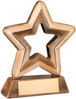 Bronze/Gold Resin Generic Mini Star Trophy - 4.25in