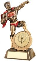 Bronze/Gold/Red Resin Generic Hero Trophy (2in Centre) - 7.25in