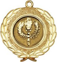 Gold Wreath Medal - 1.75in