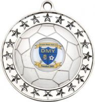 Silver Footy Medal - 2.75in