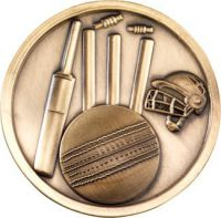 Cricket Medallion - Antique Gold 2.75in
