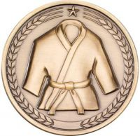Martial Arts Medallion - Antique Gold 2.75in