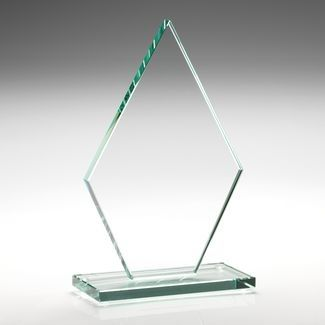 Jade Glass Diamond Plaque (10mm Thick) - 8in
