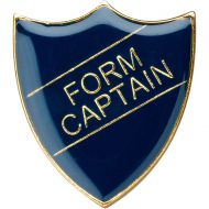 School Shield Trophy Award Badge (Form Captain) - Blue 1.25in