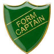 School Shield Trophy Award Badge (Form Captain) - Green 1.25in