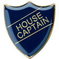 School Shield Badge (House Captain) - Blue 1.25in