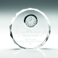 Clear Glass Round Clock - 4.25in