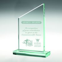 Jade Glass Plaque (15mm Thick) - 6.25in