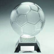 Large Clear Glass Football Trophy - 10.5in