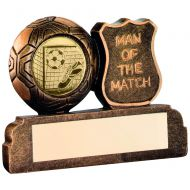 Bronze/Gold Resin Football Man Of The Match Trophy - 2.5in